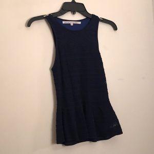Navy blue peplum blouse